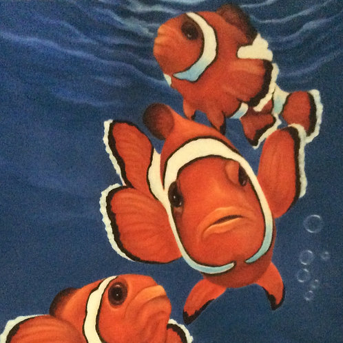 """The Clowns"" clown fish painting"