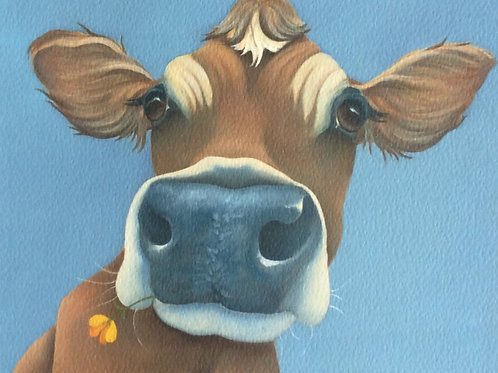 Jersey cow painting