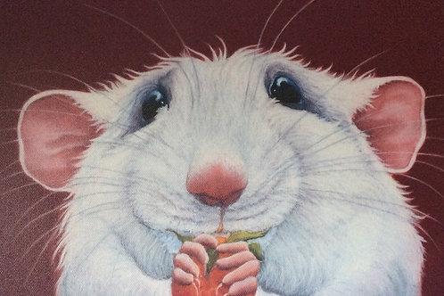 White rat painting