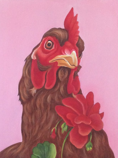 """Fanny Adams"" ex-battery hen painting"