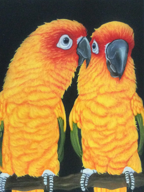 Yellow parrot painting