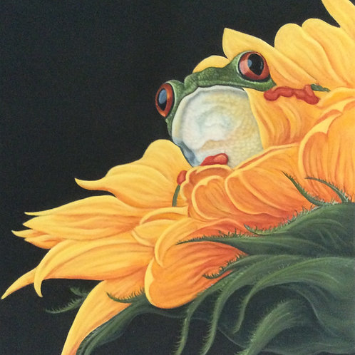 Frog and Flower painting