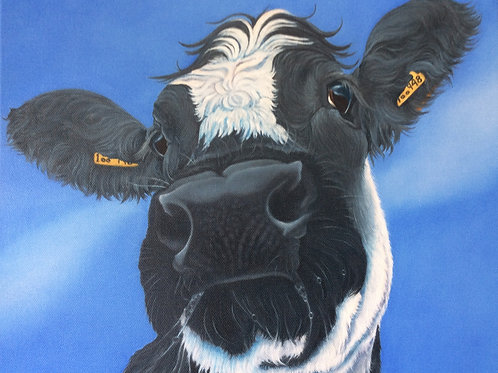 Cow painting British Blue