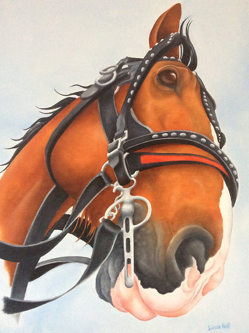 Clydesdale horse painting