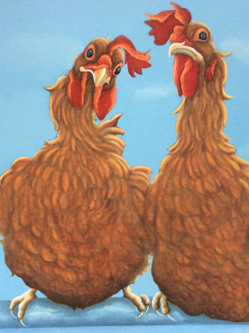 ex battery hen painting