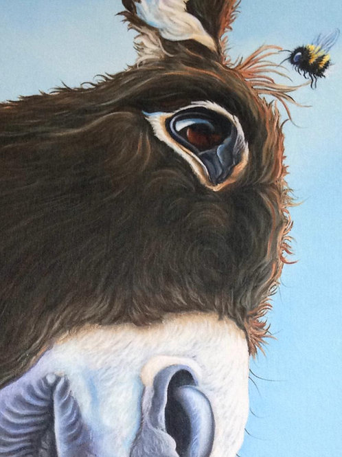Donkey with bee painting