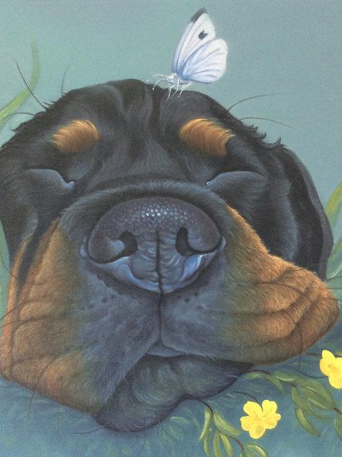 Rottweiler painting