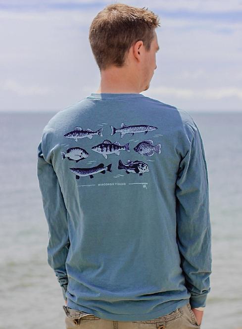 Wisconsin Fishing Long Sleeve