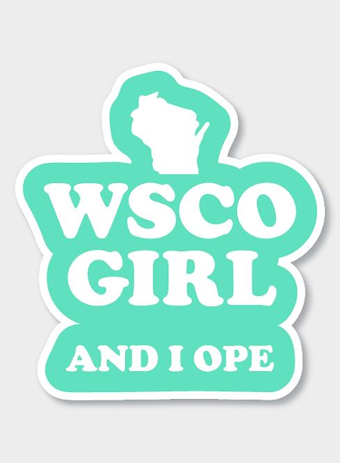 WSCO Girl Decal