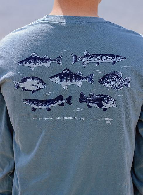 Wisconsin Fishing Tee