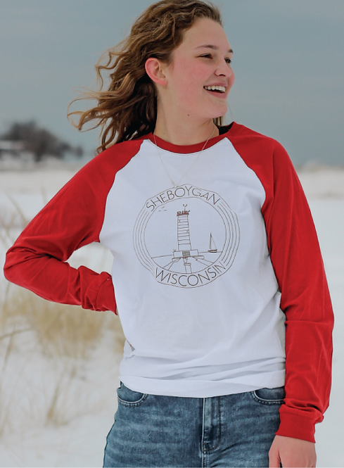 Sheboygan Lighthouse Raglan Full Sleeve