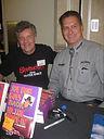 Glen Coburn with Joe Bob Briggs at Lollipops Gentleman's Club. The two men claimed it was a publicity stunt.