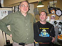 Glen Coburn and New York projectionist in Syracuse.