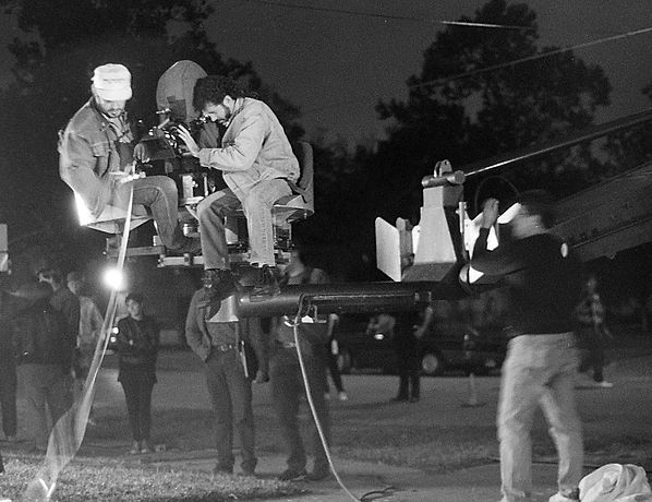 Cinematographer Russell Blair was excited to do a crane shot for, Glen Coburn's, film, Hollywood Deadbeat. Fascinated by the work of, Guillermo del Toro, he made the most of only crane shot. Blair watched the sweeping crane shot in, Gone with the Wind, repeatedly but considering the he only had to crane up one time, he went a little, Cuckoo's Nest, nutty.