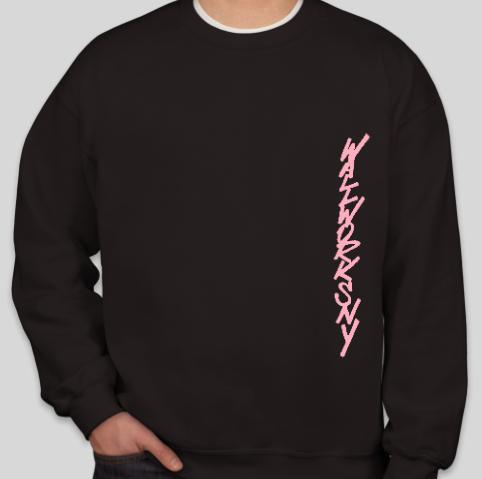unisex pink on black ww sweatshirt