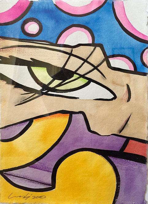 Untitled (green eye)