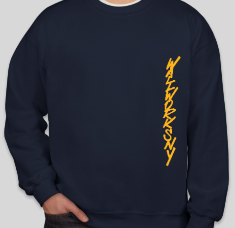 unisex gold on navy ww sweatshirt