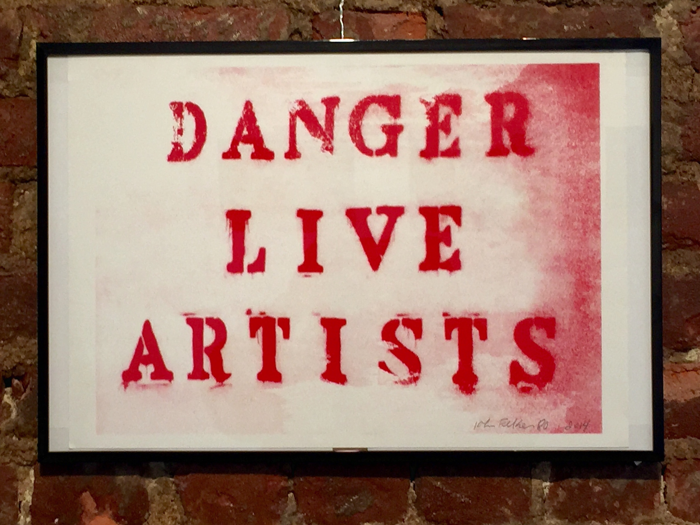 Danger Live Artists - John Fekner