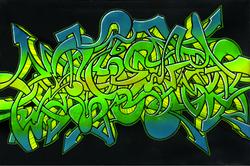 Green Wildstyle - Steph Burr