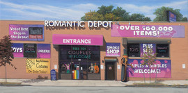 Halloween at the Romantic Depot