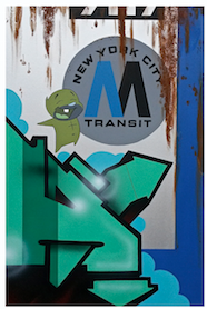 Silver MTA Train