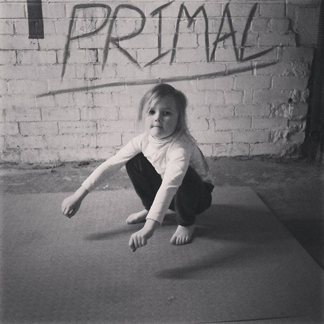My little cave girl! That's how you squat! #primalnature  #primal #paleo #primal movement  #primal e