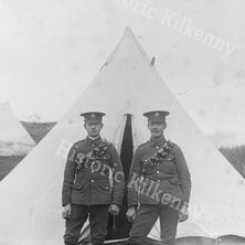 Soldiers at a Kilkenny camp