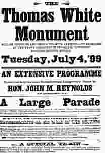 Thomas White Monument Poster