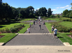 Kilkenny Castle Rose Garden facing town