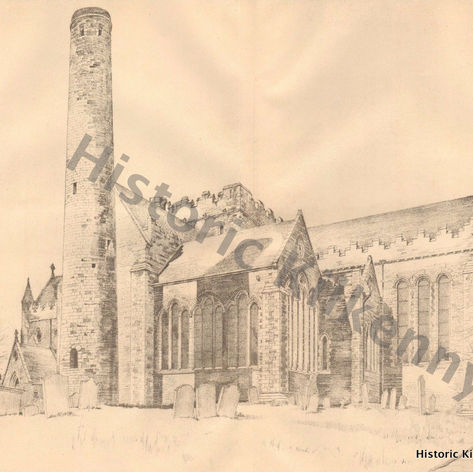 St. Canice's Cathedral sketch