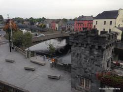 Johns Bridge from Kilkenny Castle Rose Garden