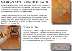 Mexican Style Concrete Pavers