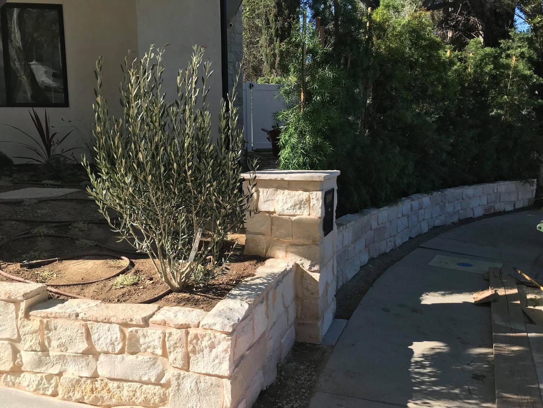 Stone Mailbox and Planter Walls