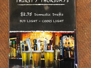 Thursday: Thirst-Days!