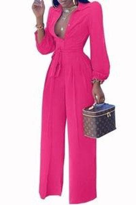 Joy - Long Sleeve Jumpsuit - Pink