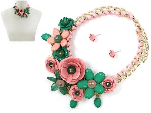 Alexa - Flower Necklace Set
