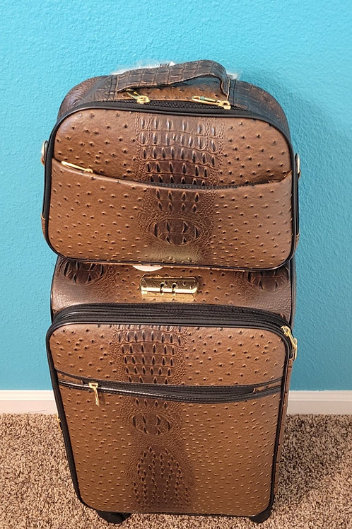 2pc Travel Set - Brown