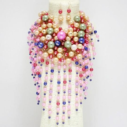 Cindy - Pearl Drop Necklace Set