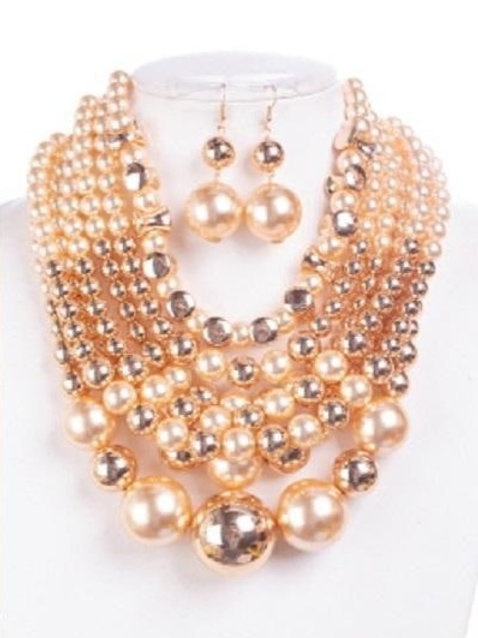 Brooke - Pearl Necklace Set