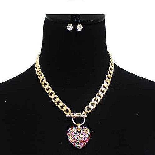 Sienna - Heart Pendant Necklace Set