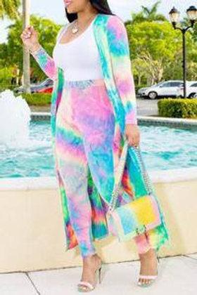 Lisa - 2pc Pant Set - Tie Dye