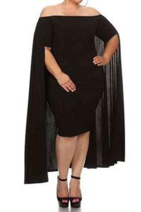 Mariah - Cape Dress