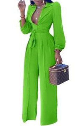 Joy - Long Sleeve Jumpsuit - Green