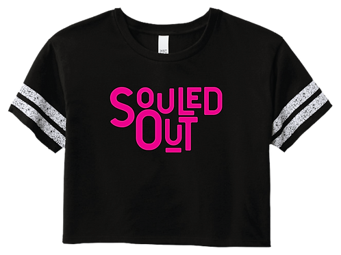 Souled Out Crop Tee - Black