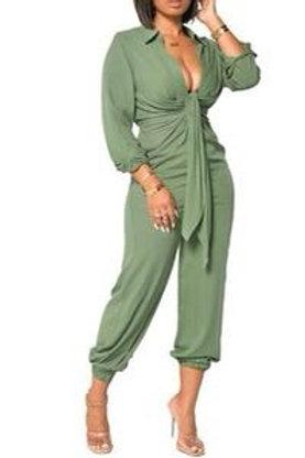 Bre - Long Sleeve Jumper - Green