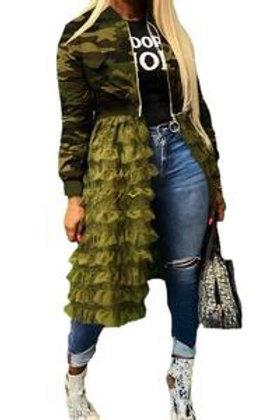 Quinn - Camouflage Ruffled Jacket