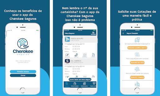 Cherokee Seguros lança aplicativo para IOS e Android