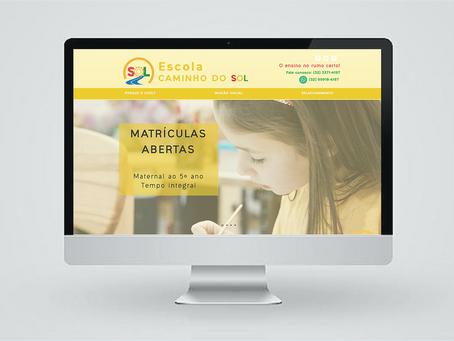AV+ cria website para Escola Infantil Caminho do Sol