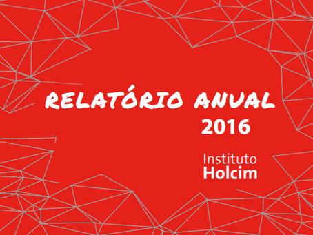 Instituto Holcim disponibiliza Relatório Anual 2016/2017
