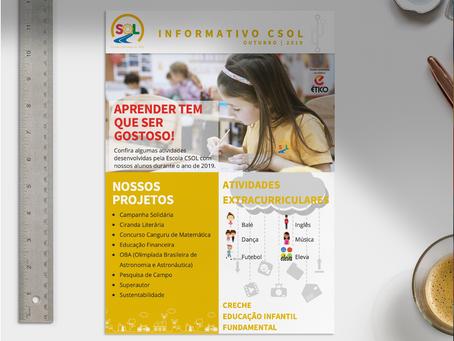 AV+ cria informativo para Escola Caminho do Sol